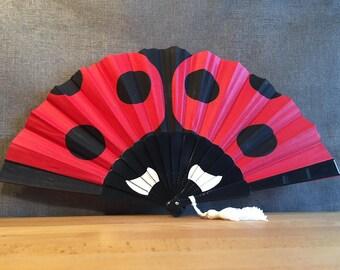 Cotton ladybird, black resin, acorn, Fan COCC