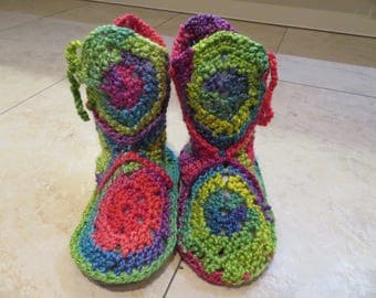 Crochet House Slippers