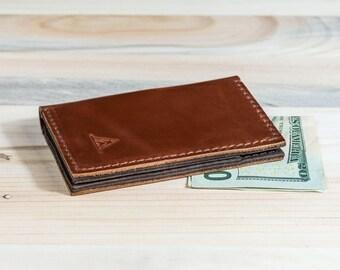 Front Pocket Wallet, Slim Design, Minimalist Credit Card Wallet, Personalized Leather Wallet, Leather Card Holder, Handmade Gift Ideas #007