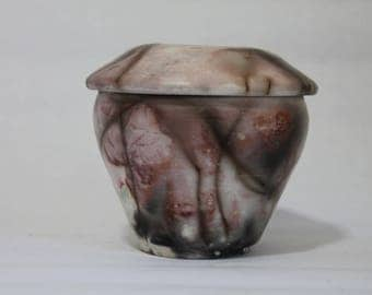 Raku Jar, Raku Vase with Lid, Raku Pottery (24)