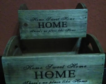 two wooden boxes refresh your home- used technique for aging by fumigation