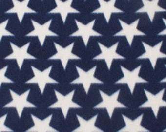 Stars On Navy Printed Fleece Tied Blanket