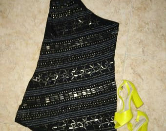 Studded black dress / / black studded dress