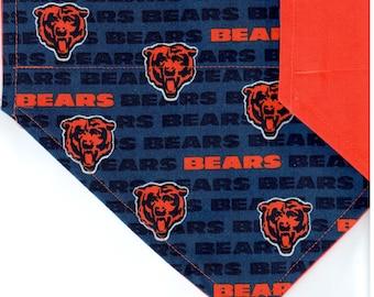 Chicago Bears Mini Bandana | Dog Bandana | Over the Collar Dog Bandanas | Custom Dog Bandana