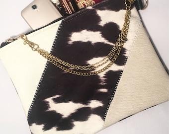 Wivenhoe cowide clutch zip purse