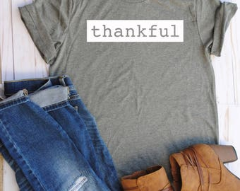 Thankful shirt/fall/blessings/inspiration/gift/thanksgiving shirts/fall shirts/gifts for mom
