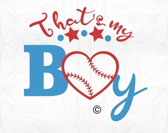 that's my boy baseball SVG Clipart Cut Files Silhouette Cameo Svg for Cricut and Vinyl File cutting Digital cuts file DXF Png Pdf Eps