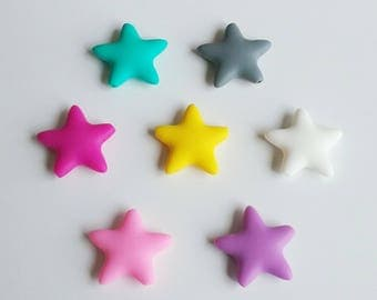 Star bead silicone 100% silicone from 40 x 40mm for making ties