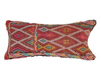 Vintage Kilim Pillow Morocco 57 × 31 cm