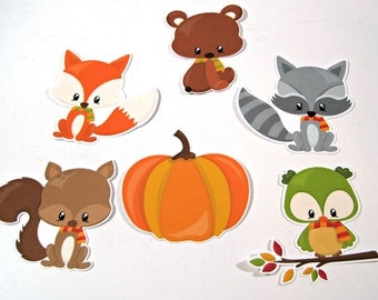 Planner Die Cuts - Fall Animals Die Cut - TN Pocket Die Cut - Planner Decoration - Fox - Bear - Squirrel - Raccoon - Owl