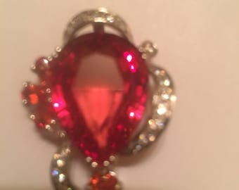 Remarkable AAA+Red Orange Sapphire Pendent