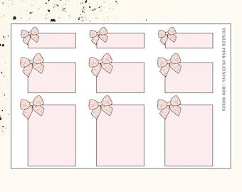 BOW BOXES | Planner Stickers | Premium Matte Paper