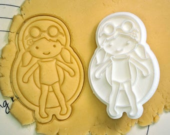 Girl on Swimming Tube Cookie Cutter and Stamp