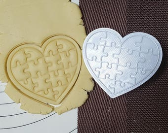 Heart Puzzle Cutter and Stamp