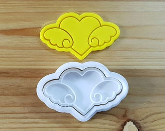 Flying Heart Cookie Cutter and Stamp