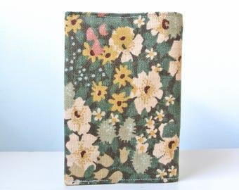 Green floral passport holder, passport holder, passport cover