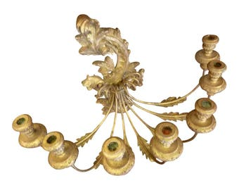 Gilded Candle Wall Sconce