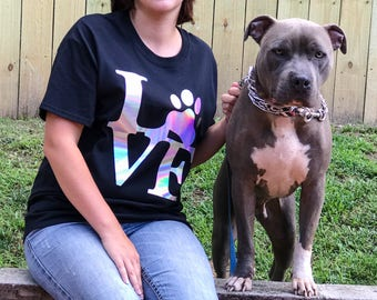 Love My Dog - Dog Mom Shirt - Dog Shirt - Dog Mom Gift - Dog Mom TShirt - Yorkie Clothes - Daschund Shirt - French Bulldog Clothing