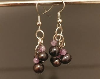 Amythist Pearls Earring