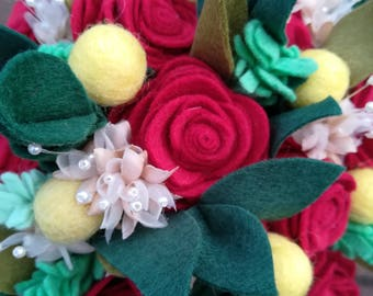 Felt rose (1) made to order, felt wedding decor, artificial flowers, roses, felt flowers, felt roses, felt flower bouquet, single stem