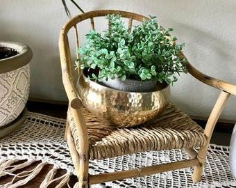 Vintage mini wicker chair