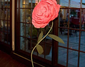 Giant Freestanding Paper Flowers
