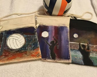 Snazzy Handpainted Volleyball bag