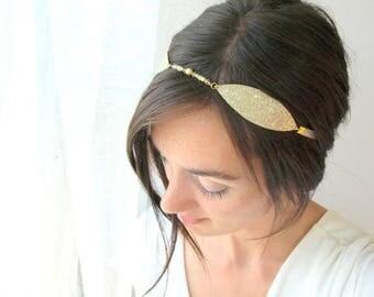 Leaf wedding tiara, bridal headpiece, gold leaf headpiece, bridal headpiece, leaf tiara, wedding headband, wedding crown, leaf headband