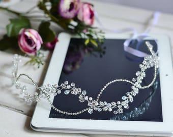 Long hair vine, Crystal hair vine, Wedding hair vine, Hair jewelry, Bridal hair vine, crystal crown, gold accessories, hair vine, gold vine