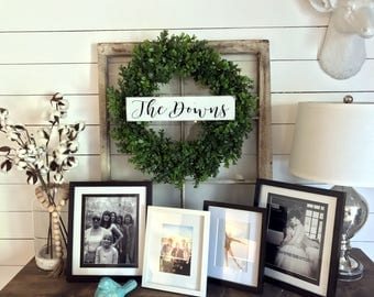 Family Name Sign / Gallery Wall Sign / Farmhouse Sign / Fixer Upper /