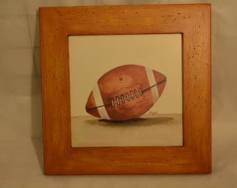 Set of 4 Hand Painted Pastels of Sports Balls