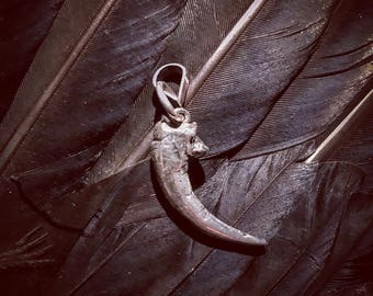 Sterling Owl Talon pendant