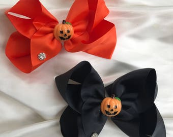 """Halloween JoJo style bow clip, Siwa clip ,boutique bow 6"""", sparkle large bow,"""