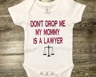 My MOM Is A LAWYER, funny baby onesie, baby shower gift, gift for mom, mom is a lawyer gift, lawyer baby, dad is a lawyer gift, funny onesie