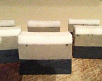 SALE Seductive Spa Bar soap jasmine scent activated chatcoal dead sea clay soap mango and shea butter soap