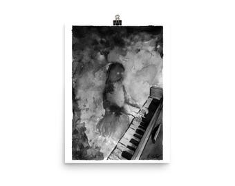 Ghost Girl At The Piano fine art print