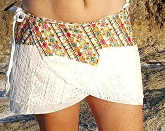 Miniskirt. Unique size. Embrodery skirt.