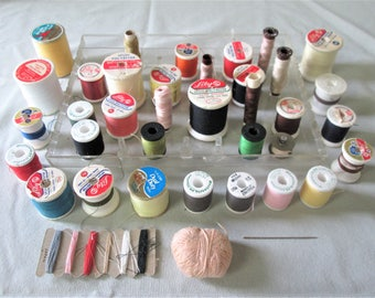 35 Vintage Thread Spools Different Colors Different Manufacturers