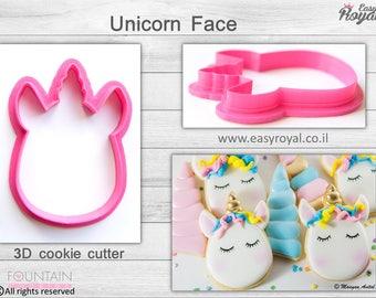 Unicorn Face - 3D cookie cutter