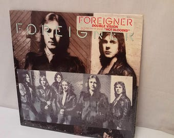 Vintage 1978 Foreigner Double Vision - Hot Blooded Vinyl Record Album UNTESTED