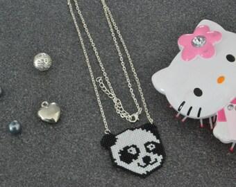 Pattern panda fashion necklace