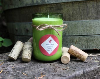 Bamboo and Green Tea Scented Soy Wine Bottle Candle