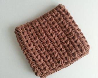 Infinity scarf Crochet cowl Merino wool cowl Crochet scarf Chunky wool cowl Chunky scarf Infinity scarf Winter scarf Winter cowl Brown cowl