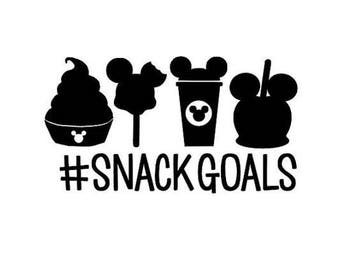 Snack Goals .svg file for Cricut and Silhouette (Disney)