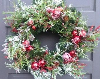 Snowy Jingle Bell Wreath
