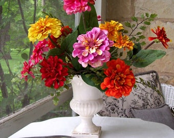 Urn with Zinnias