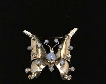 STERLING BUTTERFLY BROOCH