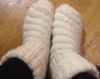 Socks made of real sheep's wool