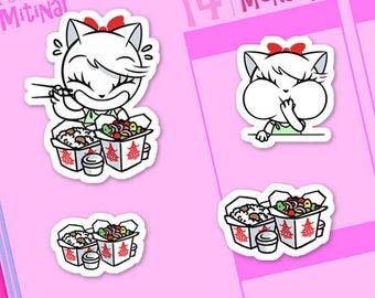 ML003- Mitina Chinese Food, planner stickers, food stickers, chinese fast food, food stickers, noodle, rice, decoration sticker, 31 stickers