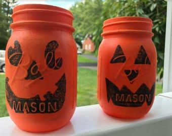 Halloween Mason Jars (Set of 2)